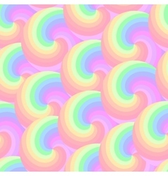 Seamless pattern with colorful spirals vector