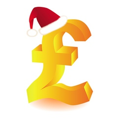 Pound currency xmas vector