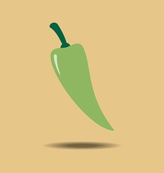 Green jalapeno vegetable vector