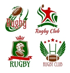 Rugby game symbols for sporting design vector