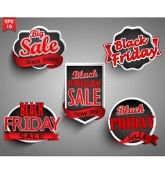 Labels for black friday vector
