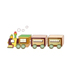 A running train vector image vector image