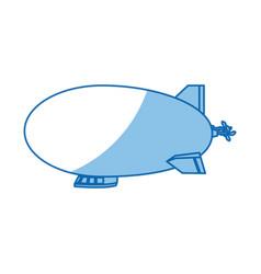 Airship zeppelin modern design flat style vector
