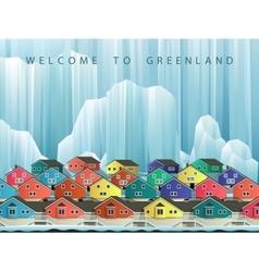 Arctic greenland town vector