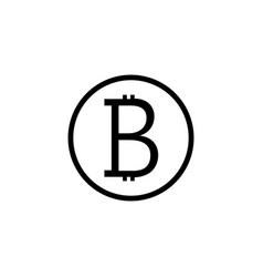 Bitcoin solid icon finance and business vector