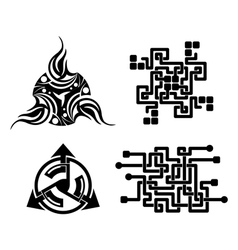 black elements for design - tattoo vector image vector image