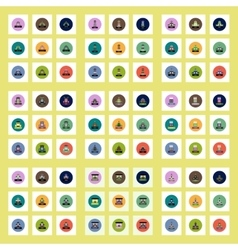 Collection of stylish icons in colorful vector