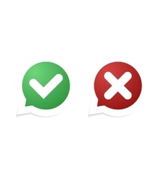 Confirm and cancel icon vector