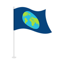 Flag earth official national symbol of planet vector