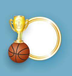 flat cartoon basketball ball banner vector image