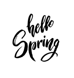 Hello spring quote vector