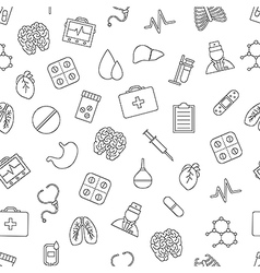 Hospital pattern black icons vector image vector image