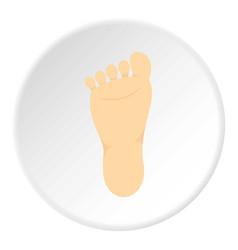Human foot icon circle vector