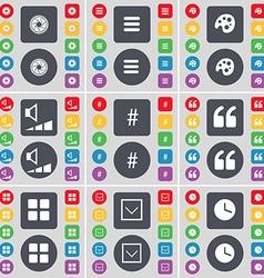 Lens apps palette volume hashtag quotation mark vector