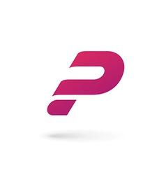 Letter p question mark logo icon design template vector
