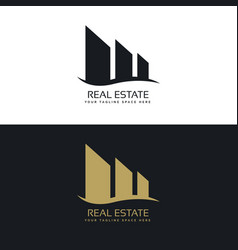 Logo design concept for real estate business vector
