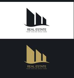 logo design concept for real estate business vector image vector image