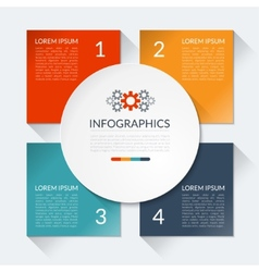 Modern business infographics circle vector image vector image