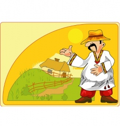 Picturesque peasant vector