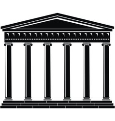 portico colonnade architecture vector image vector image