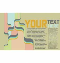 retro psychedelic page vector image vector image