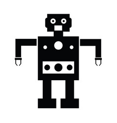 robot icons vector image
