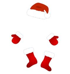 Santa claus costume vector