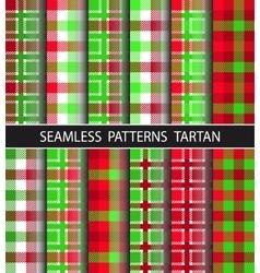 Set seamless pattern tartan vector image
