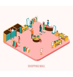 Shopping mall concept vector image