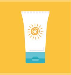 Sunscreen icon vector