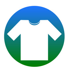 t-shirt sign white icon in vector image vector image
