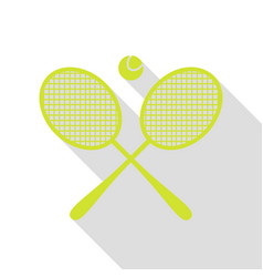 Tennis racket sign pear icon with flat style vector