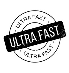 Ultra fast rubber stamp vector