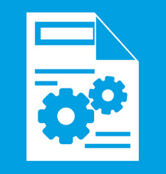 Web setting icon white vector