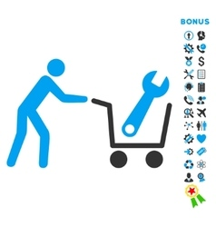 Tools shopping flat icon with bonus vector