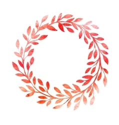 Watercolor autumn frame wreath made of hand drawn vector