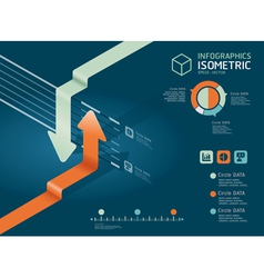 Infographic arrow diagram chart vector