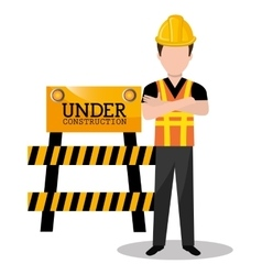 worker builder man icon vector image