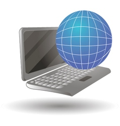 A laptop computer in differ vector