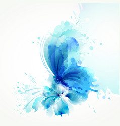Beautiful watercolor abstract translucent vector