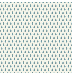 Seamless pattern with rain drops vector image