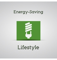 Energy saving lifestyle poster silver background vector