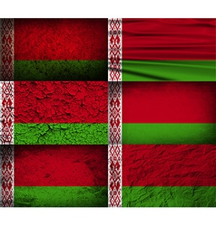 Flag of belarus with old texture vector
