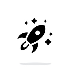 Rocket in space simple icon on white background vector