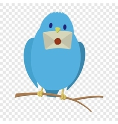 Blue bird with letter vector