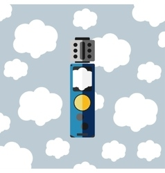 Electronic cigarette with cloud vector