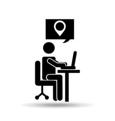 Gps service design vector