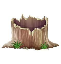 A tree stump vector
