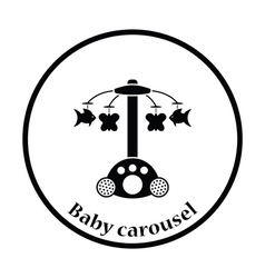 Baby carousel icon vector image vector image