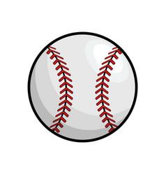 Ball to play baseballl icon vector